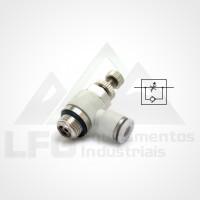 "SCL08-02 Reguladora de Fluxo Cotovelo Plastica 8MM X 1/4"""